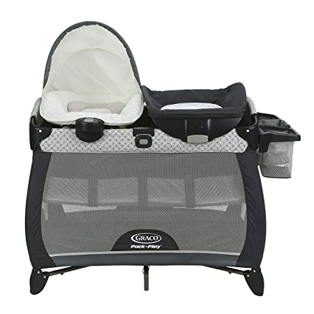 Graco Pack n Play Quick Connect Portable Napper Deluxe with Bassinet, McKinley