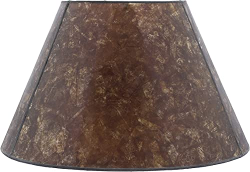 Urbanest Amber Mica Lampshade, 12-inch Bottom Diameter, 7.5-inch Height, Spider Fitter