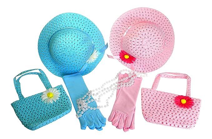 Amazon.com: Las niñas Tea Party Dress Up Play Set para 2 con ...