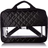 Simplily Co. Packing Cube Folder Compact Travel Organizer Bag (Black Quilted)