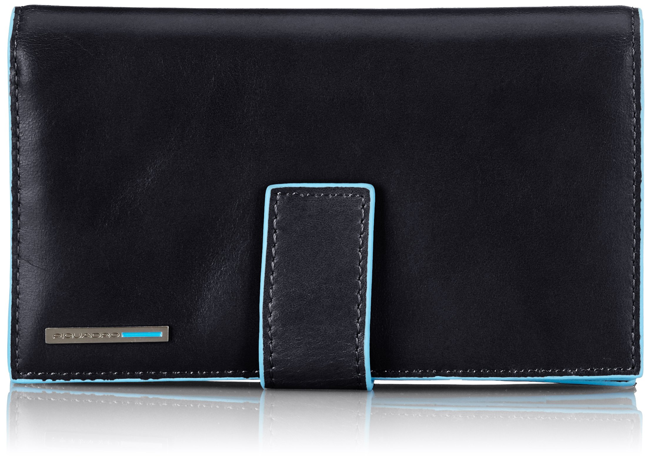 Piquadro Lady's Wallet In Leather, Black, One Size by Piquadro
