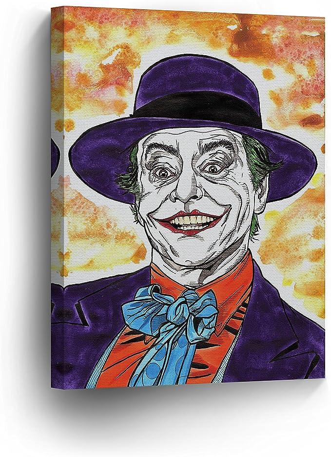 Joker Canvas Giclee Vintage Print Jack Nicholson Unframed Home Decor Wall Art