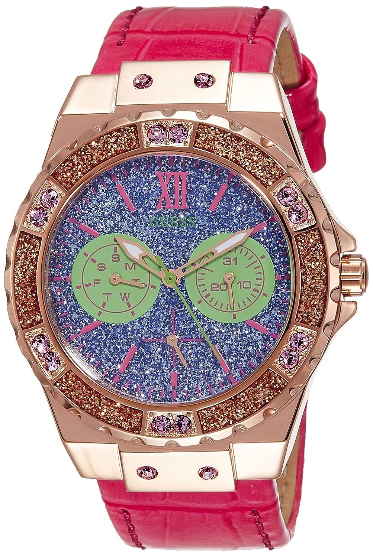 Guess W0775L4 Orologio da polso Da Donna, Pelle, colore: Rosa