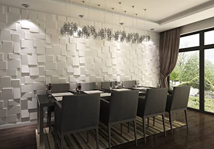 Paneles Decorativos 3d Rubik Para Paredes Interiores 100 Ecologico - Paneles-para-paredes-interiores