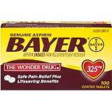 Genuine Bayer Aspirin 325mg Tablets, 100-Count