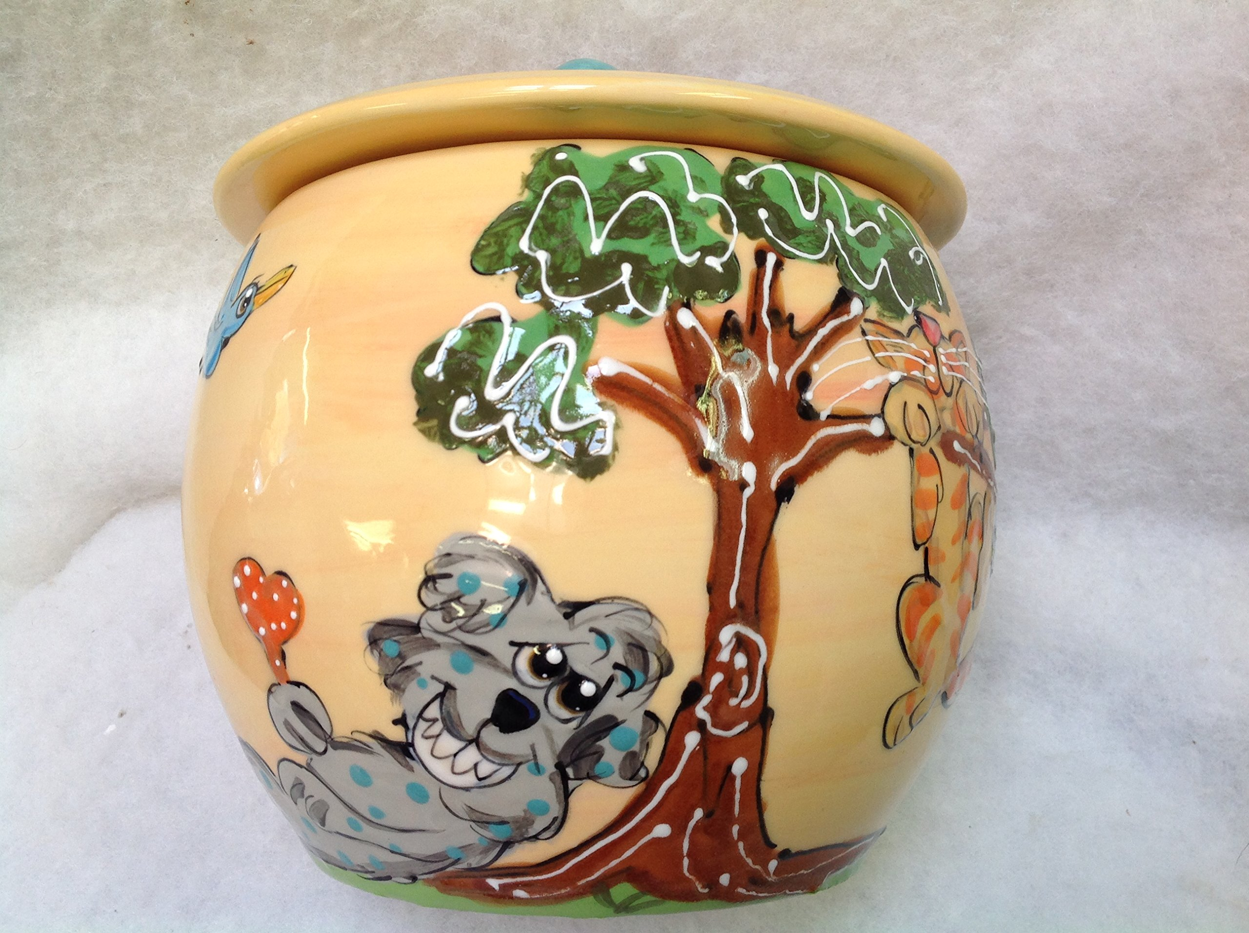 Poodle Treat Jar. Personalized at no Charge. Signed by Artist, Debby Carman.