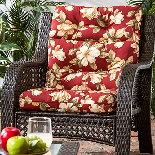 Deal of the week: Greendale Home Fashions AZ4809-ROMAFLORAL Tuscan Floral 44'' x 22'' Outdoor Seat/Back Chair Cushion