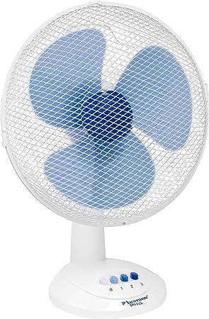 Bestron Ventilateur de table oscillant, mobile, Hauteur : 48 cm, Ø 35 cm, 40 W, Blanc