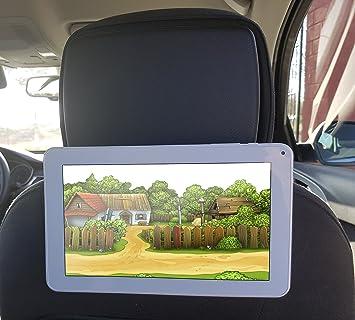 Soporte tablet coche soporte móvil coche soporte reposacabezas tablet y smartphone soporte salpicadero móvil y tablet soporte coche universal colgador de ...
