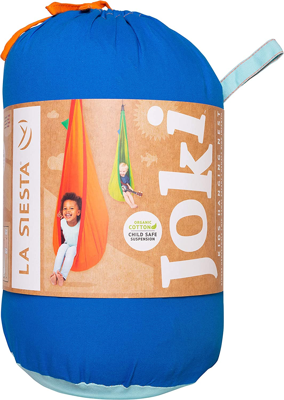 Organic Cotton Kids Hanging Nest Bean Bag with Integrated Suspension Joki Teddy LA SIESTA