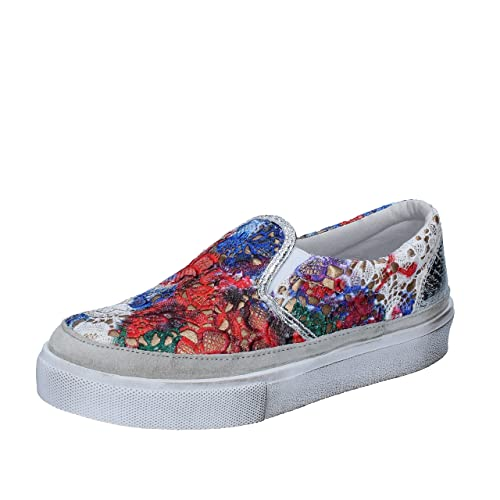 2 STAR - Mocasines de tela para mujer Multicolor multicolor: Amazon.es: Zapatos y complementos