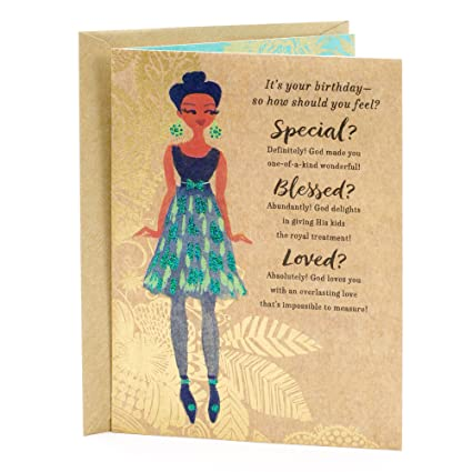 Amazon Hallmark Mahogany Religious Birthday Greeting Card For Her Special Blessed Loved Office Products