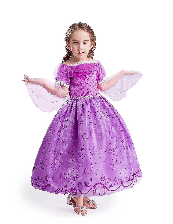 ELSA & ANNA® Princesa Disfraz Traje Parte Las Niñas Vestido (Girls Princess Fancy Dress) ES-NW12-RAP (2-3 Años, NW12-RAP) UK1stChoice-Zone