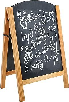 25-Inch Double-Sided A-Frame Chalkboard Sign Sidewalk Sandwich Board