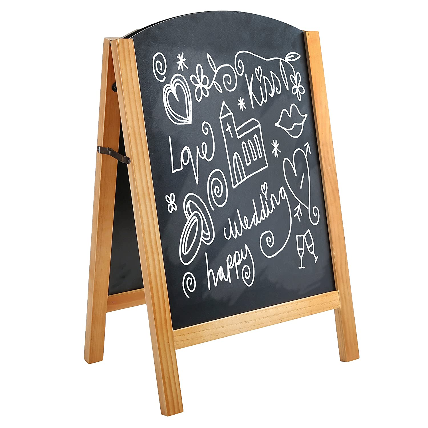 Freestanding A-Frame Chalkboard Display Sign, Double Sided Message Board