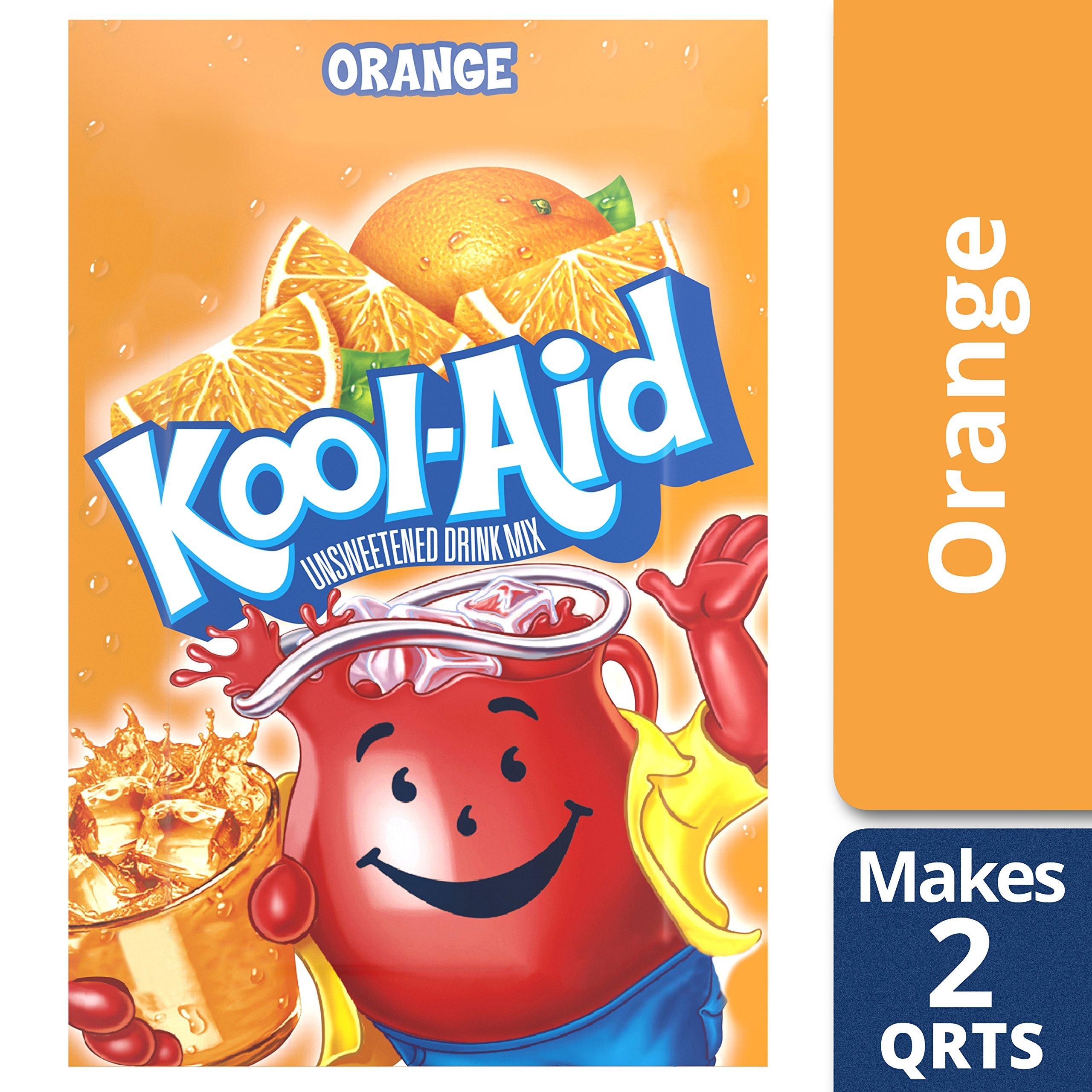 Kool-Aid Unsweetened Orange Powdered Drink Mix, 0.14 oz Packet