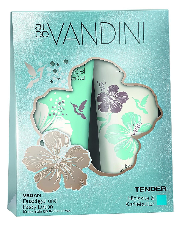 aldoVANDINI TENDER Duo Set für Frauen, Hibiskus und Kariténuss/Karitébutter, vegan & ohne Parabene - 1er Pack (1 x Stück) aldo VANDINI 433089.0