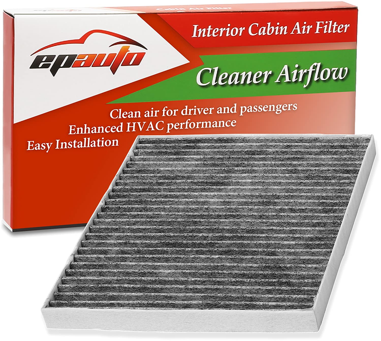 EPAuto CP374 (CF10374) Replacement for Toyota/Dodge/Pontiac Premium Cabin Air Filter includes Activated Carbon FC-014-1