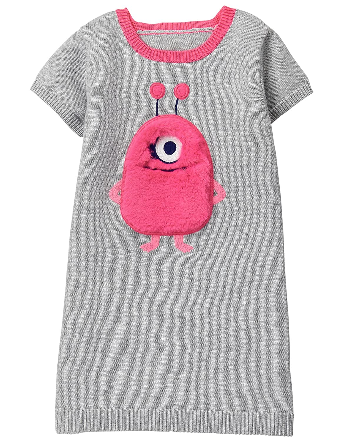 Gymboree Girls Toddler Monster Face Sweater Dress