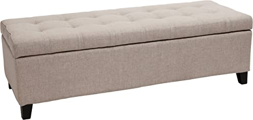 Best Selling Mission Tufted Fabric Storage Ottoman Bench