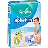 Pampers Splashers Swim Diapers Disposable Swim Pants, Large (> 31 lb), 17 Count (Pack of 2)