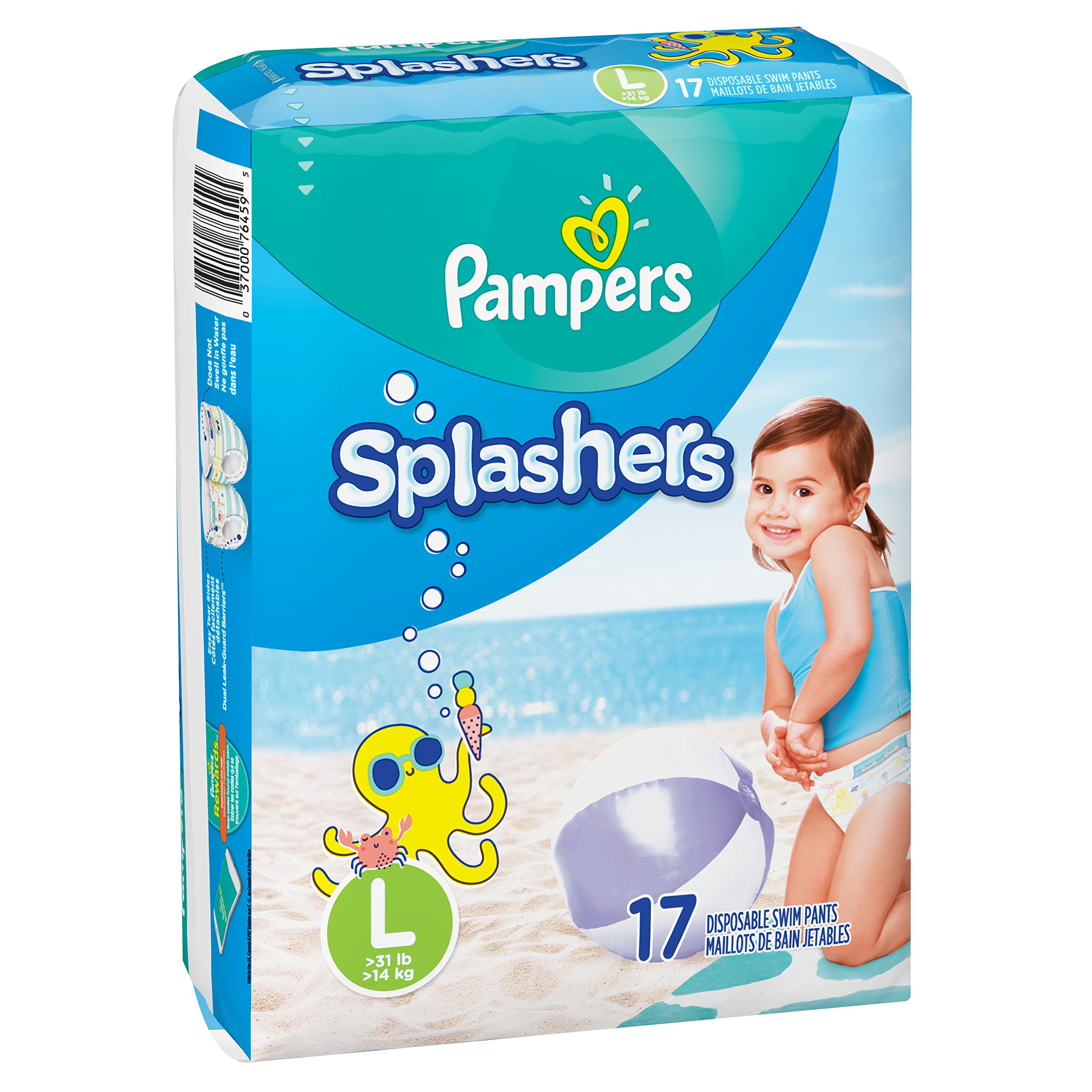 d1c082463 Amazon.com  Pampers Splashers Swim Diapers Disposable Swim Pants ...