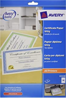 avery uk c2425 a4 certificate paper blue certificate border 10 a4