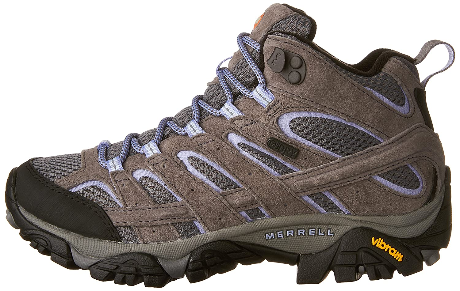 Merrell Women's Moab 2 Mid Waterproof Hiking Boot B01MU2WKMC 8.5 B(M) US|Grey/Periwinkle