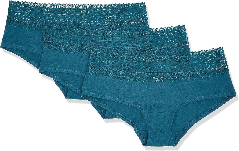 3er-Pack Marke Iris /& Lilly Damen Shorts aus Baumwolle