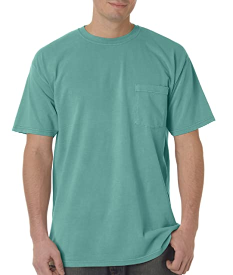 65b53db0 Comfort Colors Mens Pigment-Dyed Shirt 6030 - Small - Seafoam