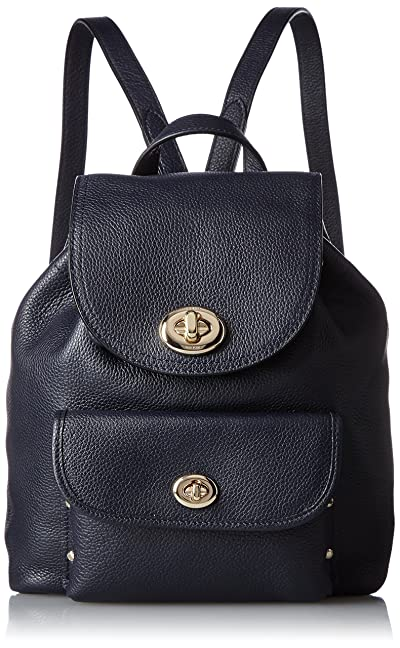 COACH Women's Mini Turnlock Tie Rucksack LI/Navy Backpack