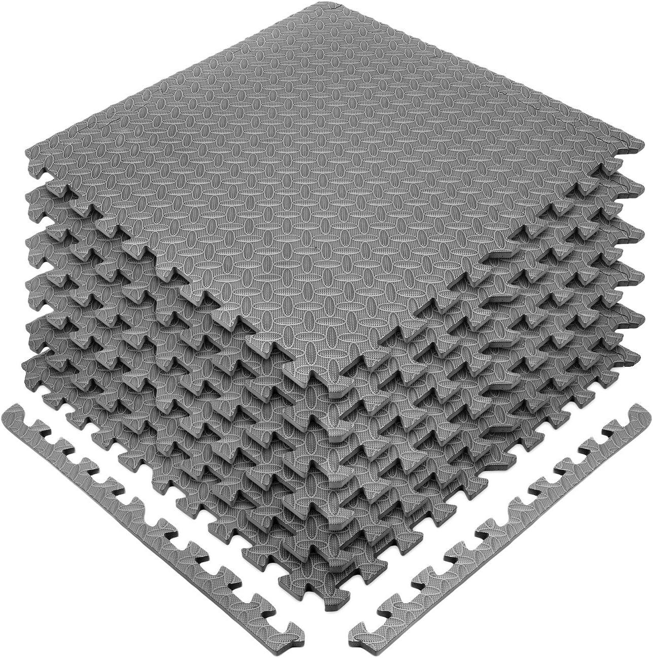 Sivan Health and Fitness Puzzle Exercise Mat EVA Foam Interlocking Tiles