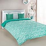 Amazon Brand - Solimo Valencia Microfibre Printed Comforter, Single, 200 GSM, Green