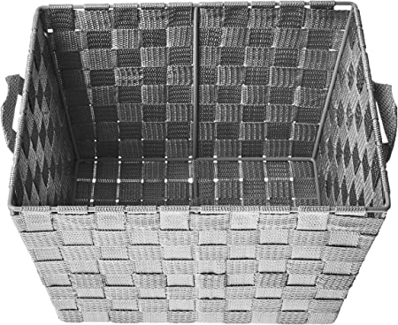 Honey-Can-Do STO-05088 Woven Baskets 2-Pack Gray