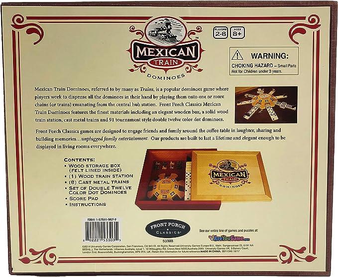 Mexican Train Dominoes by Front Porch Classics: Amazon.es: Juguetes y juegos