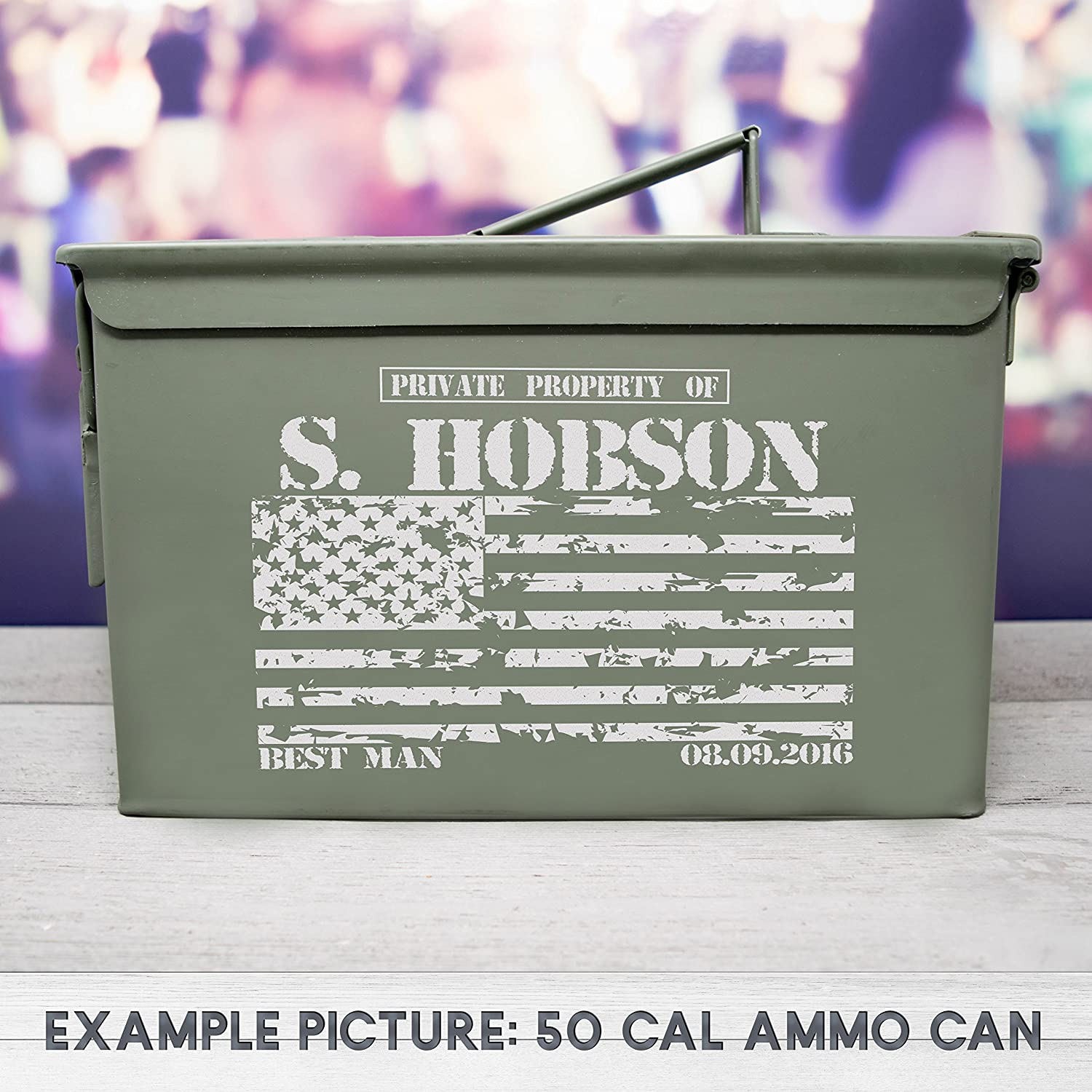 Ammo Box, Personalized Ammo Box, Unusual Groomsmen Gifts, Groomsman Gift, Best Man Gift, Wedding Gift, Groom Gift, Laser Engraved
