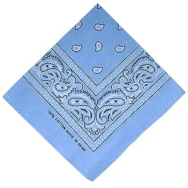 ATM - Bandana   Foulard - 100% Coton - Bleu Ciel  Amazon.fr ... f2f3dae86d3