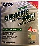 Nicotine Gum 4mg Sugar Free Mint Generic for