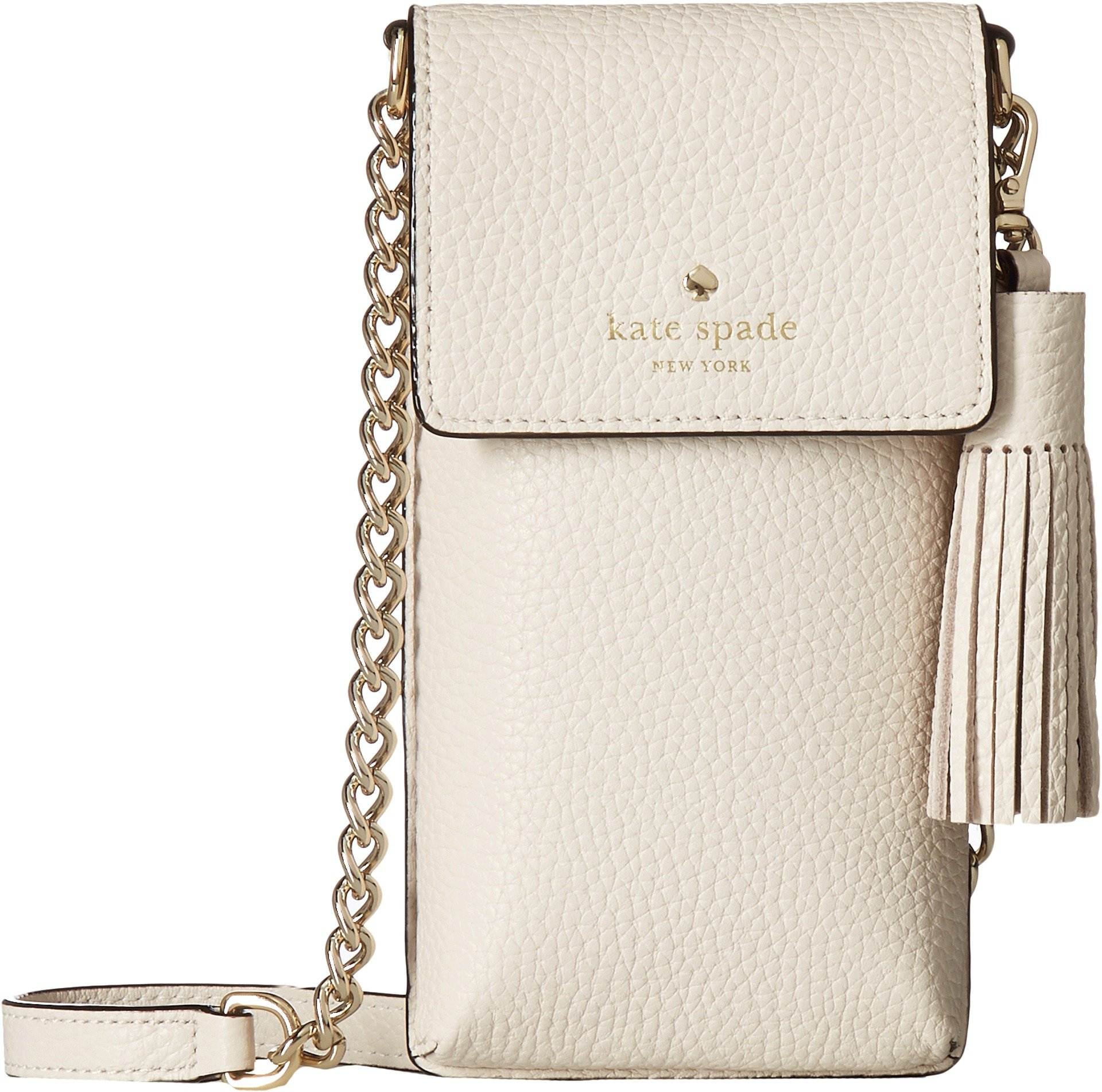 Kate Spade New York Women's North/South Crossbody Phone Case for iPhone 6, 6s, 7, 8 Bleach Bone One Size