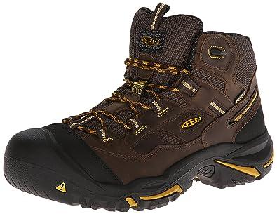 KEEN Utility Men's Braddock Mid Waterproof Industrial Construction Boots U95ME56SE