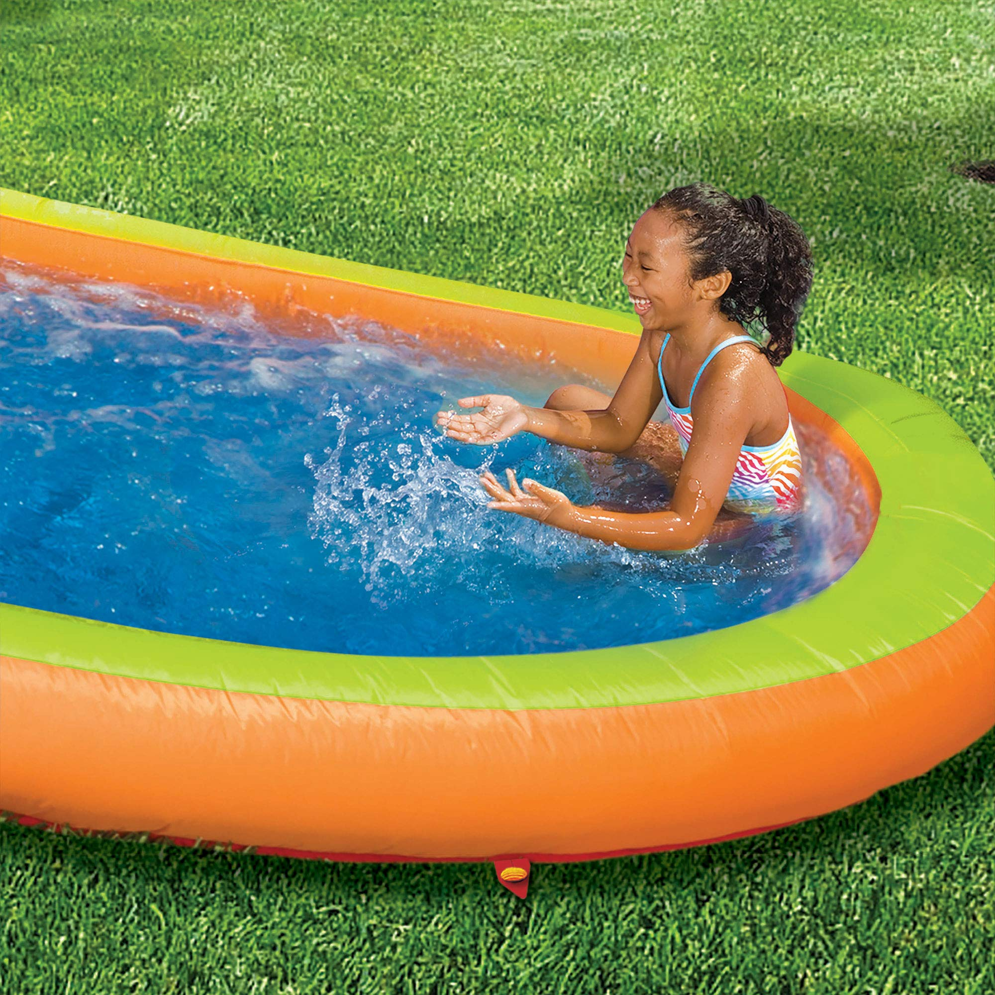 BANZAI Lazy River Inflatable Outdoor Adventure Water Park Slide and Splash Pool by BANZAI (Image #4)