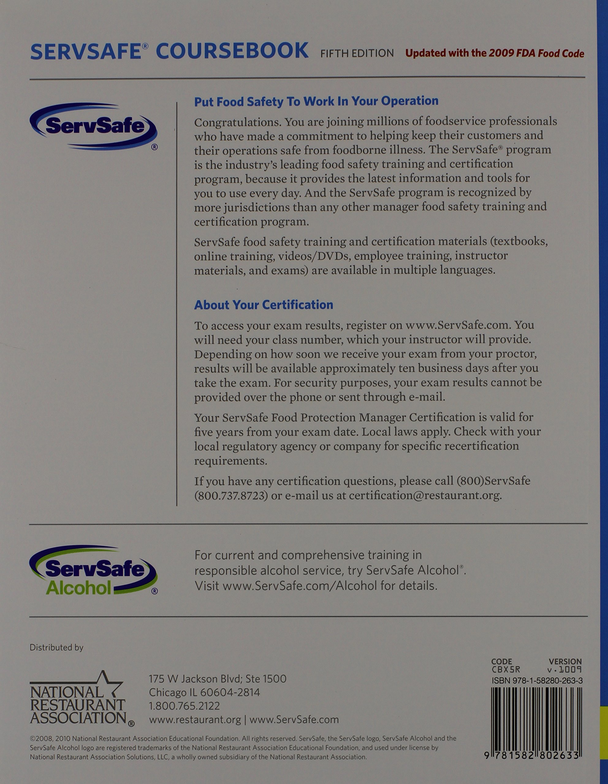 Beautiful photograph of servsafe certification online business servsafe coursebook w exam ans unknown 1betcityfo Images