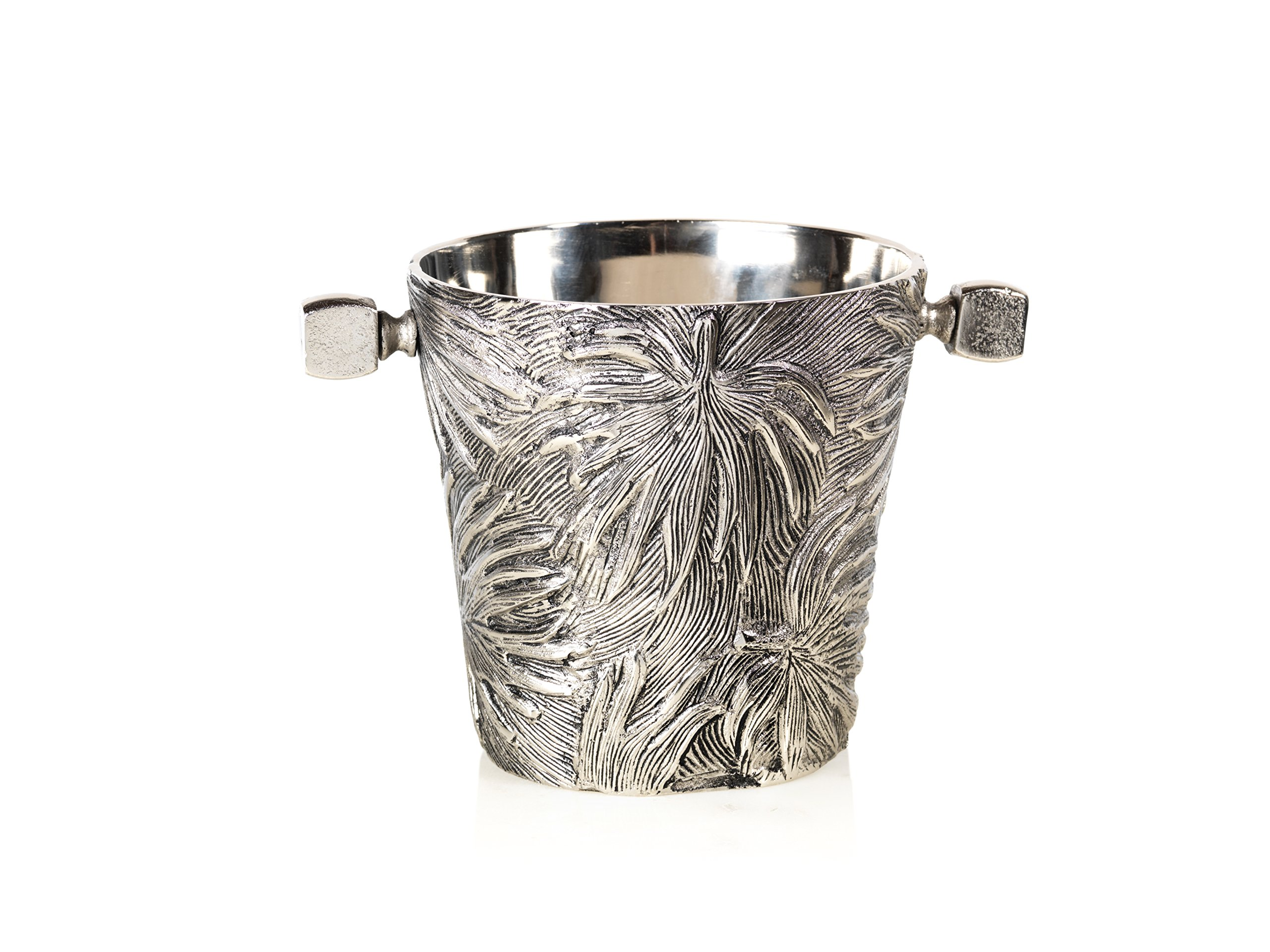 Zodax in-6286 Palm 7.5'' Tall Aluminum Wine Cooler, Antique Nickel by Zodax