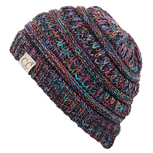92fc2601d8d88 C.C Hatsandscarf Kids Beanie Ages 2-7 Warm Chunky Thick Stretchy Knit  Slouch Beanie Skull