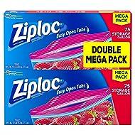 Ziploc Storage Bags, Gallon, Mega Pack, 150 ct (2 Pack, 75 ct)
