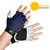 UV SUN PROTECTION FINGERLESS FISHING GLOVES Tested & Verified UPF 50+ NO CHEMICALS, Block Sunburn Damage While Fly Fishing, Kayaking, Sailing, Golfing, Driving, Outdoor Accessories by The Fishing Tree