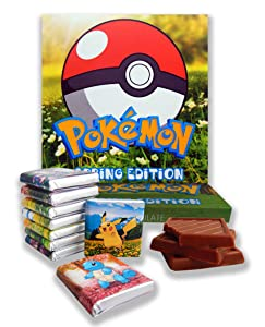 Pokemon Box Spring Edition with Chocolate! ✿ Gift Food Will be a Great idea! ✿ (Flowers)