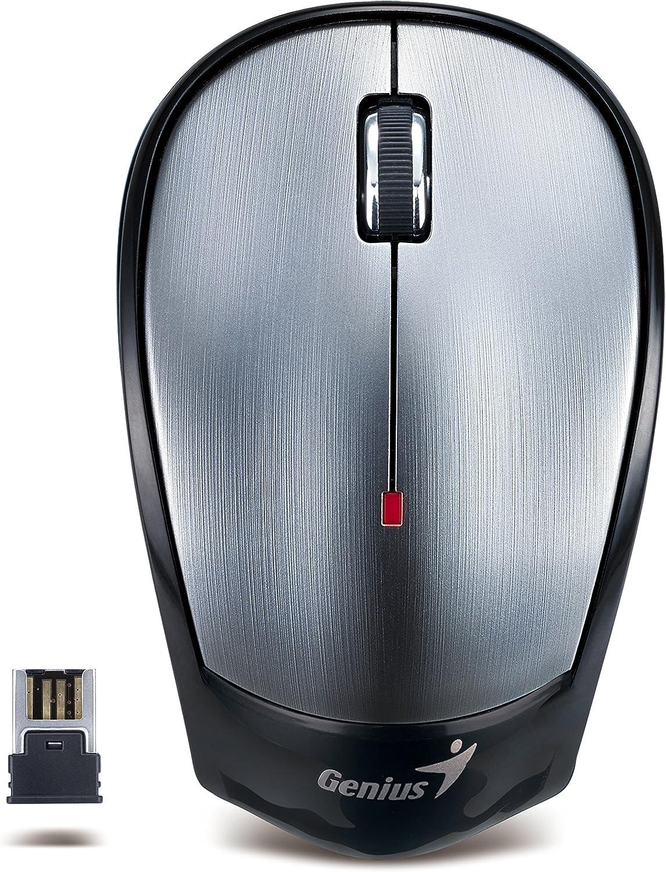 Genius NX-6500 - Ratón (RF inalámbrico, Óptico, PC/Ordenador portátil, Gris, Metálico, Ambidextro, USB)
