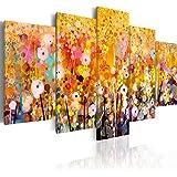 Quadro 200x100 cm - XXL - 5 Parti - Quadro su tela fliselina - Stampa in qualita fotografica - fiori natura colorati a-B-0024-b-m 200x100 cm B&D XXL