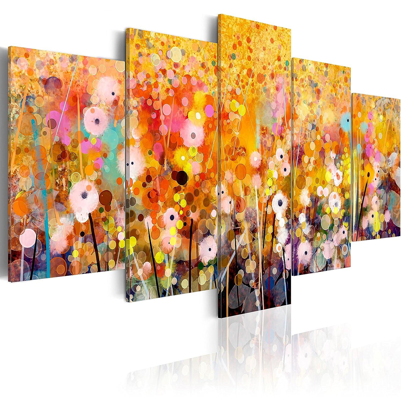BD XXL murando - Quadro 100x50 cm - 5 Parti - Quadro su Tela fliselina - Stampa in qualita Fotografica - Fiori Natura Colorati a-B-0024-b-m